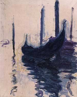 Gondolas in Venice - Claude Monet
