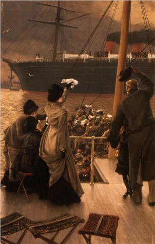 Goodbye, on the Mersey - James Tissot