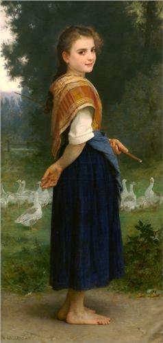 Goose Girl - William Adolphe Bouguereau