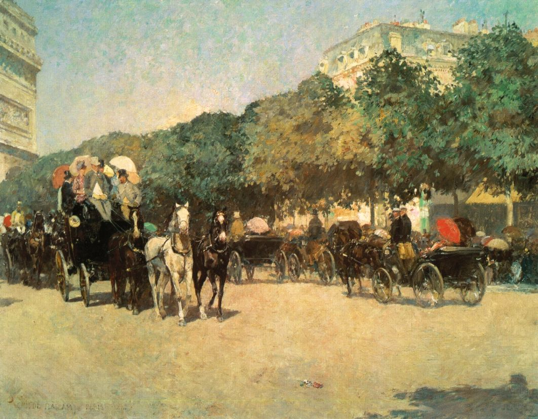 Grand Prix Day - Childe Hassam