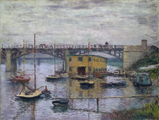 Gray Day at Bridge at Argenteuil - Claude Monet