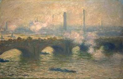 Gray Day at Waterloo Bridge - Claude Monet