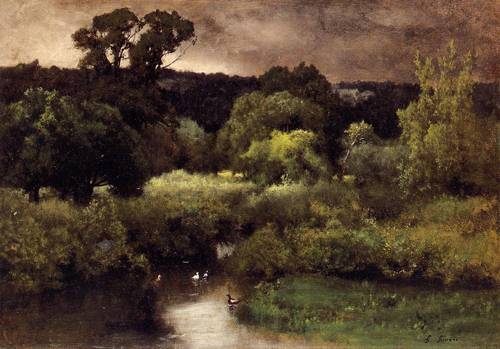 Gray Lowery Day - George Inness