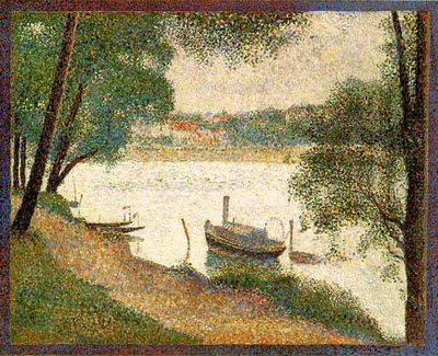 Gray Weather, Grande Jatte - Georges Seurat