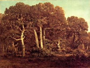 Great Oaks of the Vieux Bas Breau - Theodore Rousseau