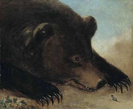 Grizzly Bear and Mouse - George Catlin