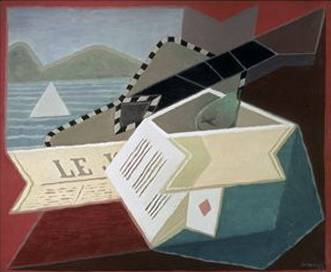 Guitar Facing the Sea - Juan Gris