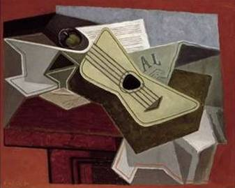 Guitar and Newspaper - Juan Gris