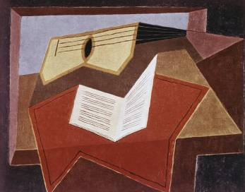 Guitar with Sheet of Music - Juan Gris