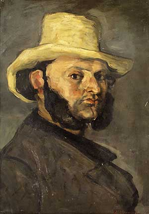 Gustave Boyer in a Straw Hat - Paul Cezanne