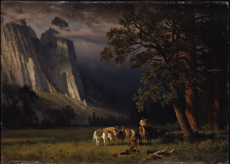 Halt in the Yosemite - Albert Bierstadt