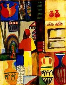 Merchant with Jugs, Tunisia - August Macke