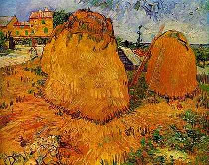Haystacks in Provence - Vincent van Gogh