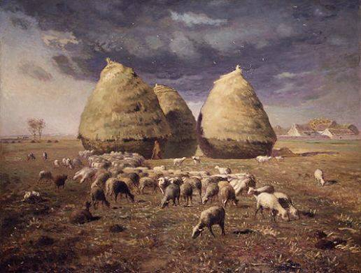 Haystacks, Autumn - Jean Francois Millet