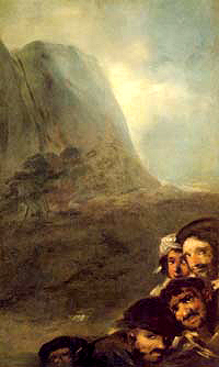 Heads in a Landscape - Francisco Goya
