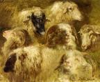 Heads of Ewes and Rams - Rosa Bonheur