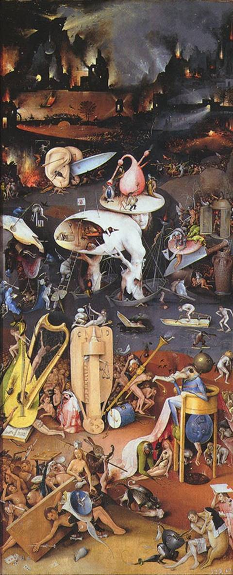 Hell (Garden of Earthly Delights) - Hieronymus Bosch