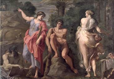 Hercules at the Crossroads - Annibale Carracci