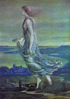 Hesperus The Evening Star - Edward Coley Burne Jones