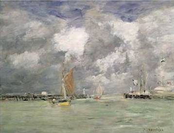 High Tide at Trouville - Eugene Boudin