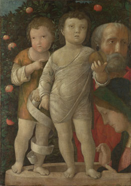 Holy Family with St John - Andrea Mantegna