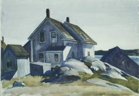 House at the Fort, Gloucester - Edward Hopper