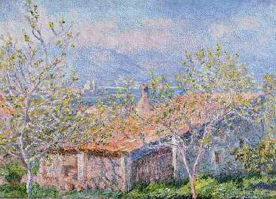 House of the Gardener at Antibes - Claude Monet