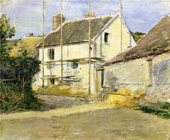 House with Scaffolding - Theodore Robinson