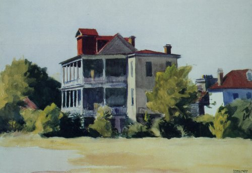 House with Veranda Charleston - Edward Hopper