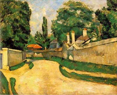Houses along a Road - Paul Cezanne
