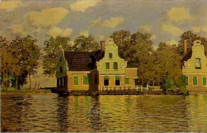 Houses at Zaandam - Claude Monet