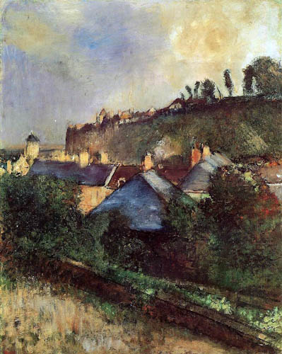 Houses at the Foot of a Cliff - Edgar Degas