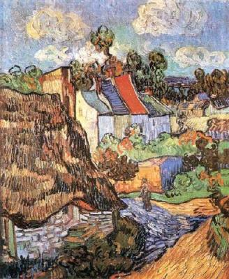 Houses in Auvers - Vincent van Gogh