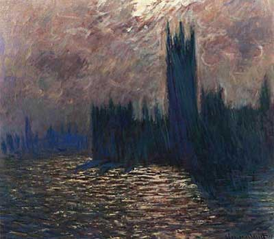 Houses of Parliament (Reflections on the Thames) - Claude Monet