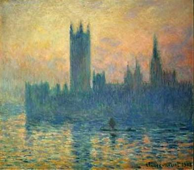 Houses of Parliament (Sunset) - Claude Monet