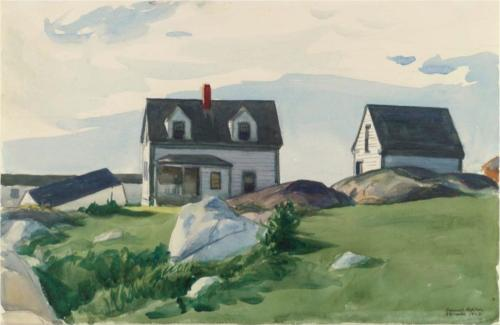 Houses of Squam Light, Gloucester - Edward Hopper