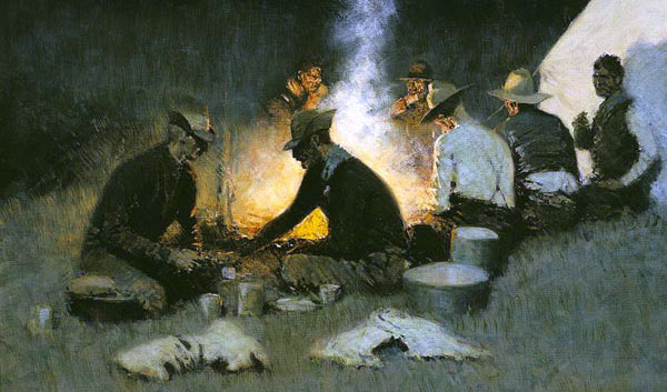 Hunters' Supper - Frederic Remington