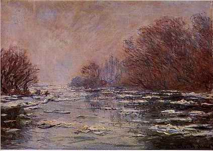 Ice near Vetheuil - Claude Monet