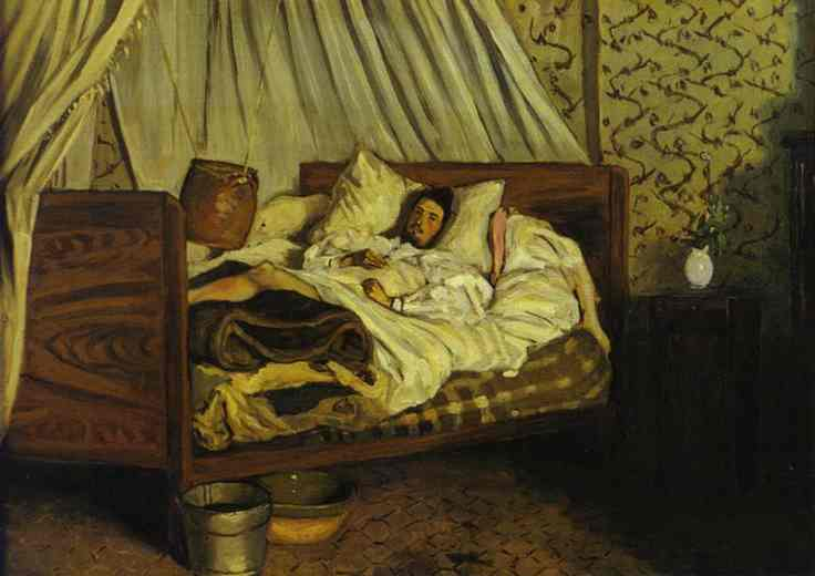 Improvised Field Hospital (Monet) - Frederic Bazille