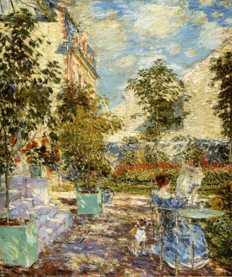 In a French Garden - Childe Hassam