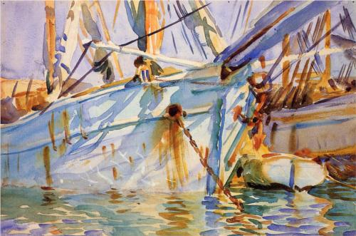 In a Levantine Port - John Singer Sargent