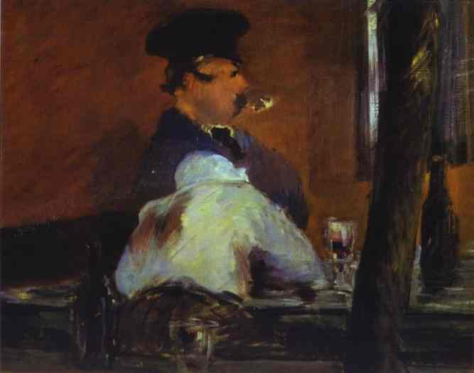 In the Bar (Le Bouchon) - Edouard Manet