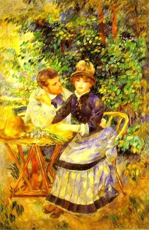 In the Garden - Pierre Auguste Renoir