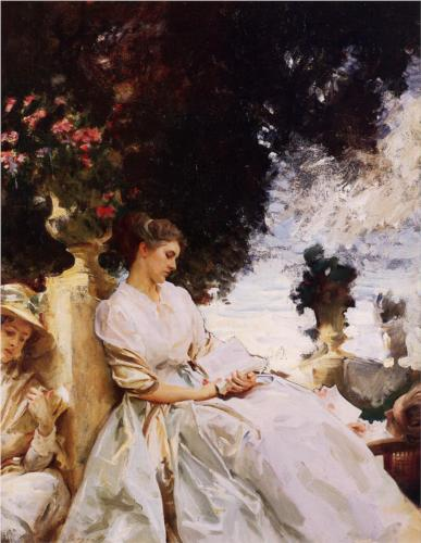 In the Garden, Corfu - John Singer Sargent