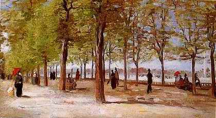 In the Jardin du Luxembourg - Vincent van Gogh