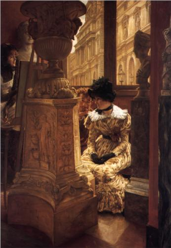In the Louvre - James Tissot