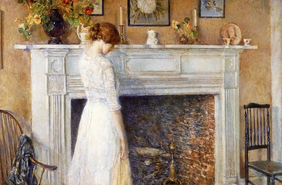 In the Old House - Childe Hassam