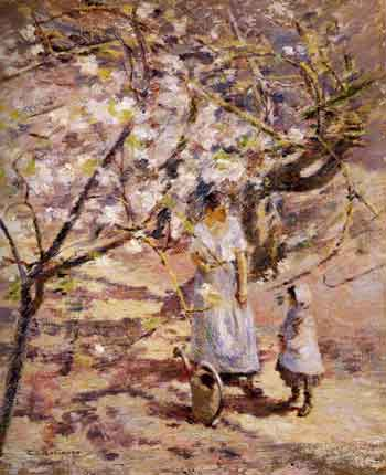 In the Orchard - Theodore Robinson