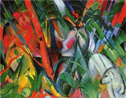 In the Rain - Franz Marc