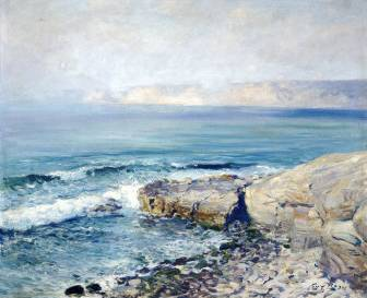Incoming Fog, La Jolla Cove - Guy Rose